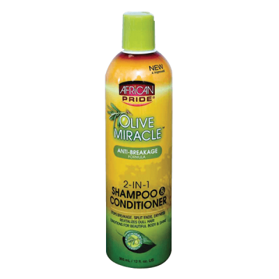 Foto van AFRICAN PRIDE Olive Miracle 2 in 1 Shampoo & Conditioner