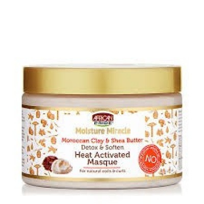 Foto van AFRICAN PRIDE MOISTURE MIRACLE Moroccan Clay & Shea Butter Heat – Activated Masque