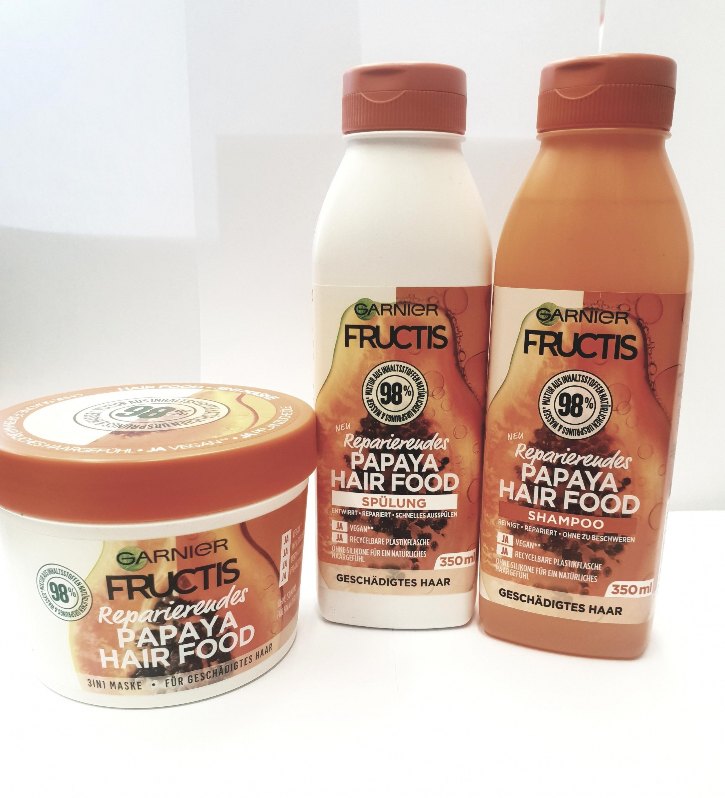 GARNIER FRUCTIS Papaya Hairfood Setje