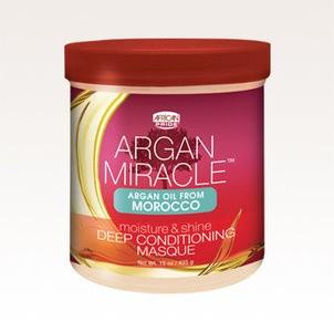 AFRICAN PRIDE Argan Miracle Moisture & Shine Deep Conditioning Masque