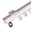 Afbeelding van Gordijnrail U-rail de luxe compleet ijzer wit gelakt 150cm