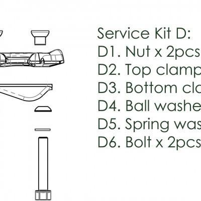 Foto van Contec Service Kit D Drop Service Kit D: Klem-Kit Incl. Plaat