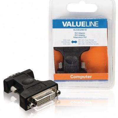 Foto van DVI-i contra - VGA adapter
