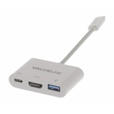 Foto van USB-C/HDMI /USB-A contra - USB-C