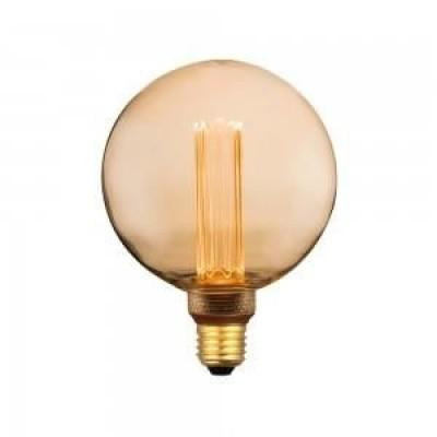 LED filament globe E27 4W 1800k