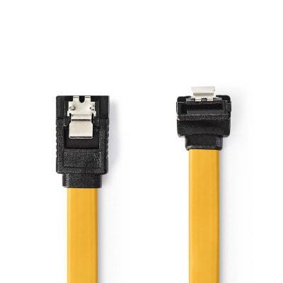 Foto van Sata kabel 0,5mtr geel haaks