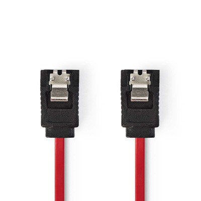 Foto van Sata kabel 0,5mtr rood