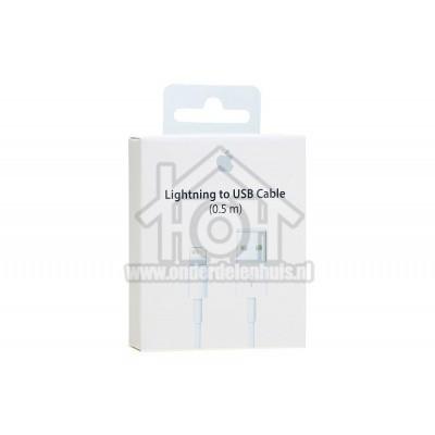 Foto van Apple Lightning cable USB kabel naar lightning, wit 0.5m Apple 8-pin Lightning connector