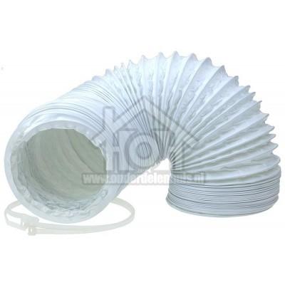 Foto van Universeel Slang 100 mm wit -PVC- 1,5 mtr. incl. trekbandjes -doos- 61200800