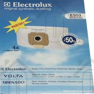 Foto van Electrolux Stofzuigerzak ES53N + 1 micro filter Bolero, Filio, Power Plus ES53 9001968420