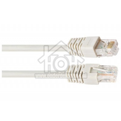 Foto van Easyfiks UTP/Netwerk kabel UTP CAT6E Netwerkkabel, RJ45 Male - RJ45 Male 0.5 Meter, Wit