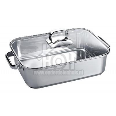 Foto van Bosch Pan Braandpan met glazen deksel Flexinductie kookplaten 00573879