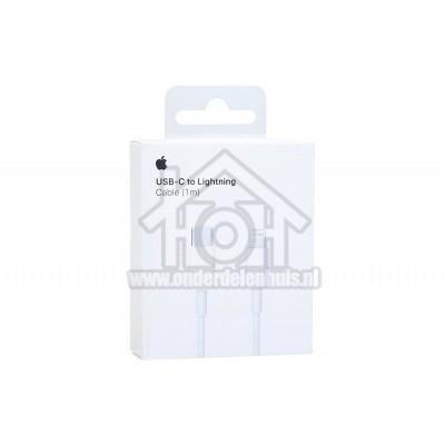 Foto van Apple Lightning cable USB-C naar Lightning kabel, wit 1m Apple 8-pin Lightning connector