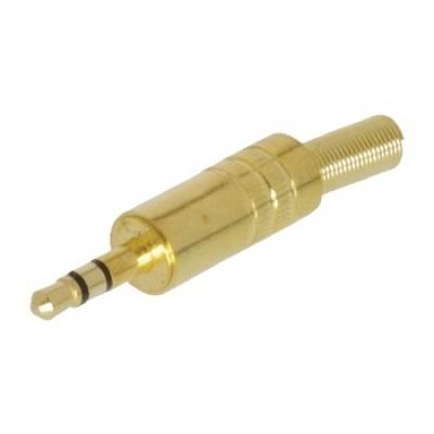 Vergulde 3.5mm stereo plug