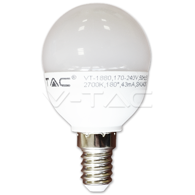 Foto van LED Kogel E14 5.5W=40W