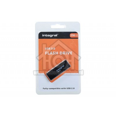 Foto van Integral Memory stick 256GB USB Flash Drive Zwart USB 3.0 INFD256GBBLK3.0