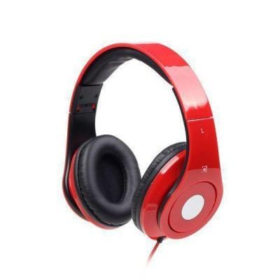 Foto van Stereo headset met microfoon rood