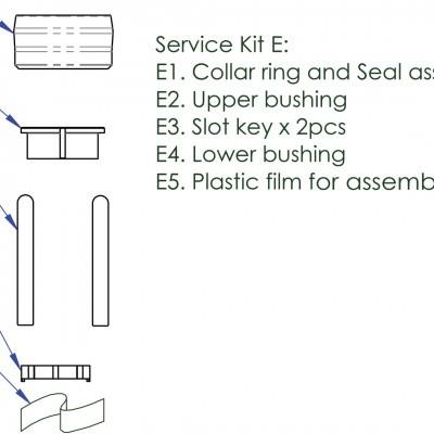 Foto van Contec Service Kit E Drop Service Kit E: Afsluitring Incl. Afdichting