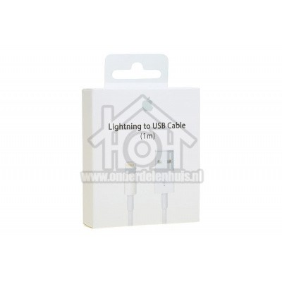 Foto van Apple Lightning cable USB kabel naar lightning, wit 1m Apple 8-pin Lightning connector