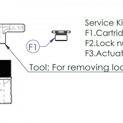 Foto van Contec Service Kit F Drop Service Kit F: Afdichtmoer