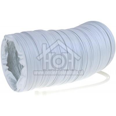 Foto van Universeel Slang 100 mm wit -PVC- 3 meter incl. trekbandjes -doos- 61201100