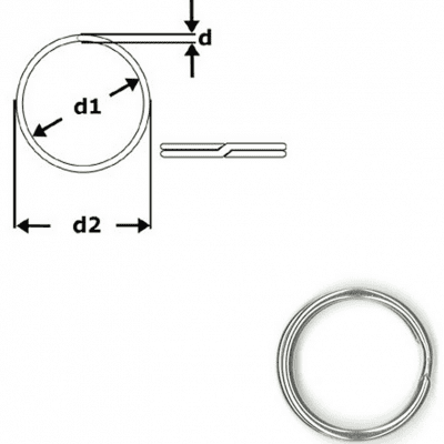 Sleutelring 30mm