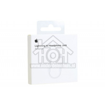 Foto van Apple Lightning cable Lightning naar 3,5mm Jack Audiokabel of hoofdtelefoon MMX62ZM/A