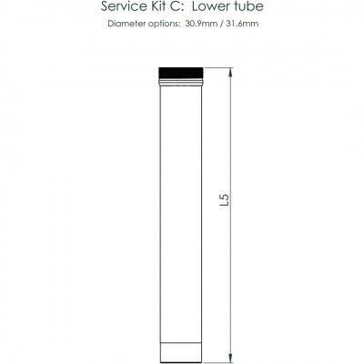 Foto van Contec Service Kit C Drop Service Kit C: Onderbuis, Voor Ø 30,9 Mm / 100 Mm Verstelbereik