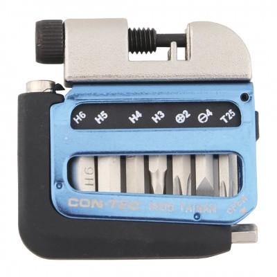 Foto van Contec Multi-Tool Pocket Blauw / Zilver / Zwart