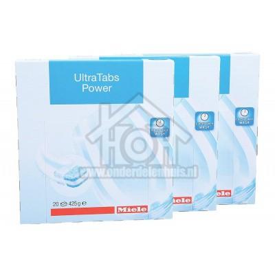 Foto van Miele Afwasmiddel Ultra Tabs Power 60 stuks Voor glanzende resultaten, zelfs bij