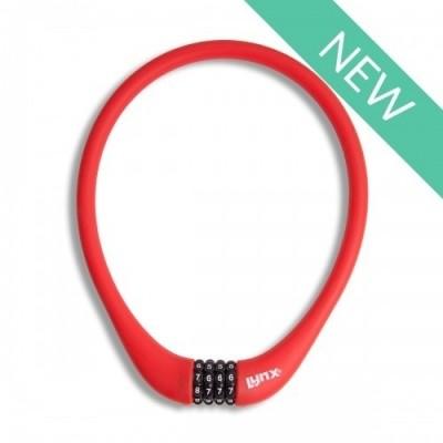 Foto van Kabelcijferslot rood siliconen 70 cm