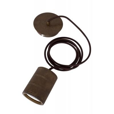 Foto van snoerpendel E40 2meter Antiek Brons