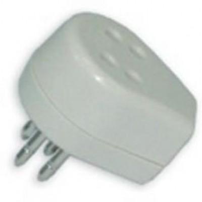 Telefoon doorvoerstekker wit/creme