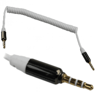 Foto van Audio kabel 3,5mm spiraalkabel