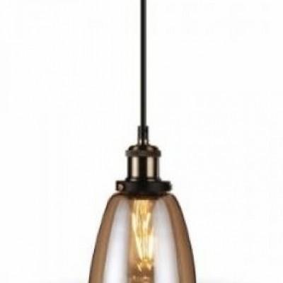 Hanglamp glas amber E27 14cm