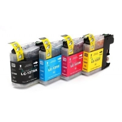 Foto van Multipack for Brother LC 127 BK, LC 125 C, M en Y