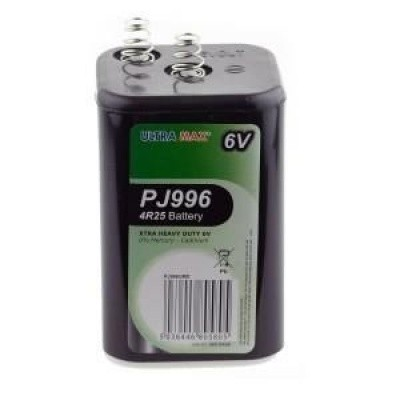 Foto van Blokbatterij 6V met veren 4R25
