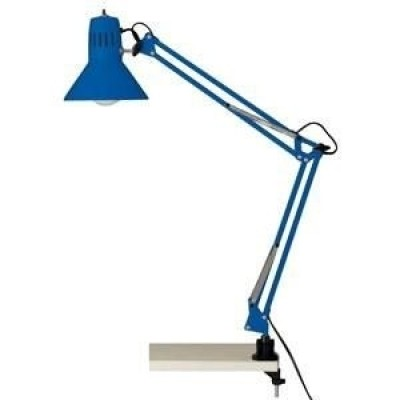Burolamp Hobby blauw met tafelklem