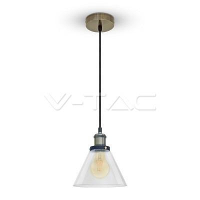 Hanglamp glas transparant e27 18cm