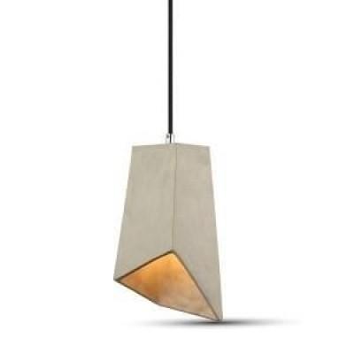 Hanglamp beton look kap met E27