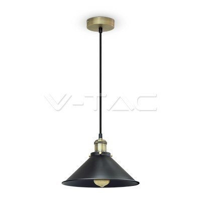Hanglamp rond zwart E27 36cm