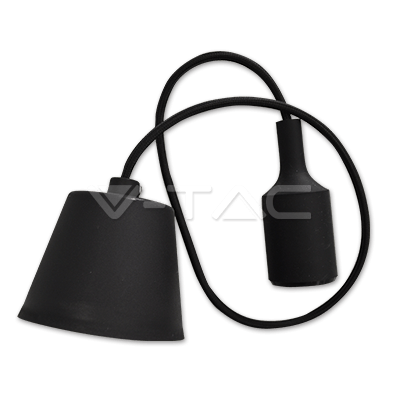 Foto van Snoerpendel E27 zwart 100cm