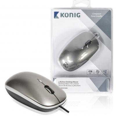 Desktop-muis met 3 knoppen plat