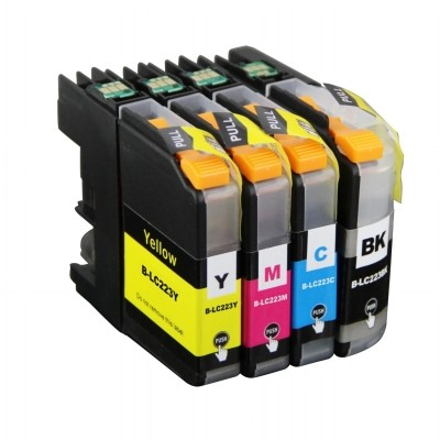 Foto van Multipack for Brother 223 BK, C, M en Y