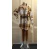 Afbeelding van New Collection BLOUSE ruit ecru-bruin