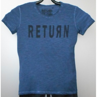 Foto van Return ELOY t-shirt oil dye Blue