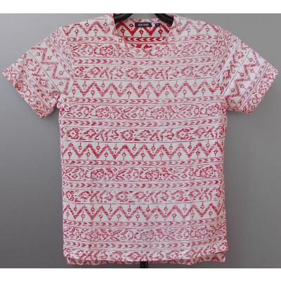 Blue Seven shirt bedrukt Ecru / Red