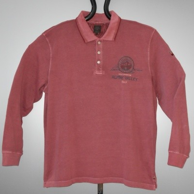 Kitaro 185507 POLO KS met lange mouwen in Red