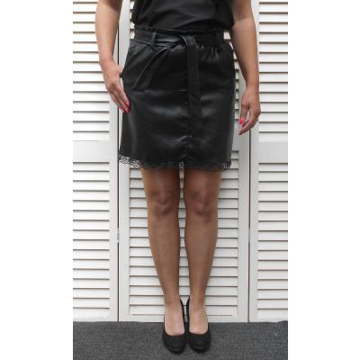 Foto van New Collection ROKJE zwart leatherlook