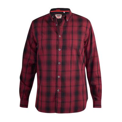 Foto van D555 BENALLA KS overhemd rood / zwart